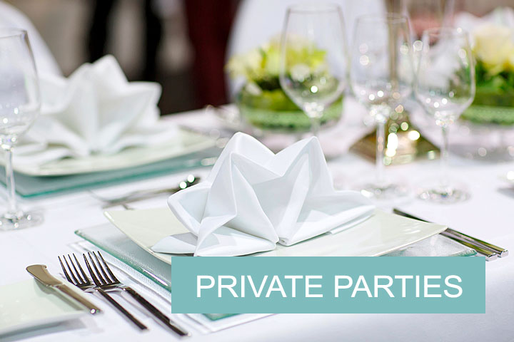 Private events in the restaurant.
